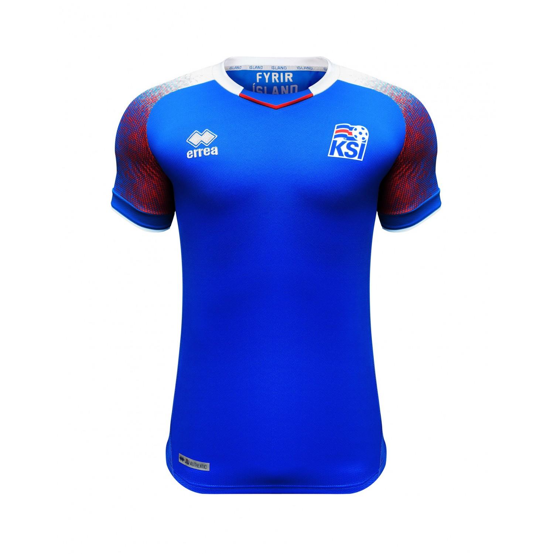 KSÍ - Iceland National Football Team Home Shirt 2018 - 2020 Custom Fit