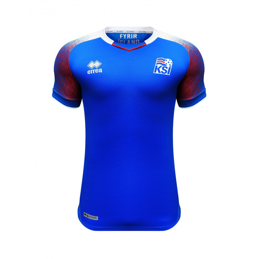 KSÍ - Iceland National Football Team Home Shirt 2018 - 2020 - Junior